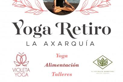 Retiro de yoga y alimentación.